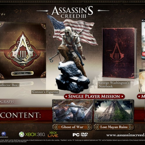 Assassin's Creed 3 to get 3 editions in Europe