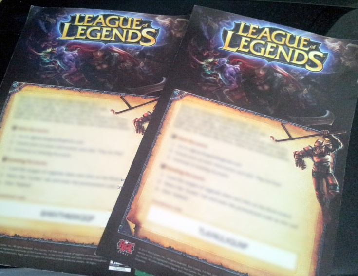league of legends code giveaway