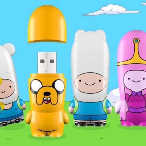 Bring the Adventure Time gang with you with these Mimobot USB flash drives