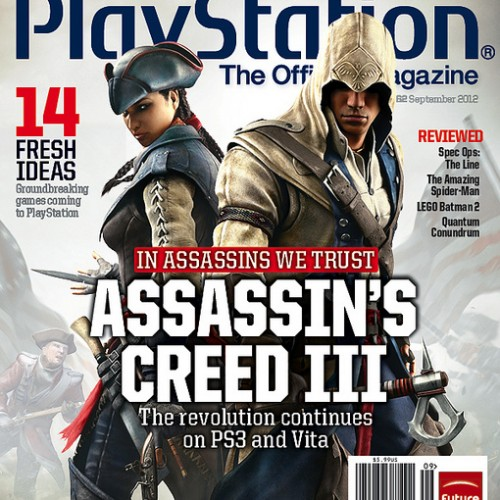 Assassin's Creed III's Connor and Aveline grace the cover of PlayStation magazine