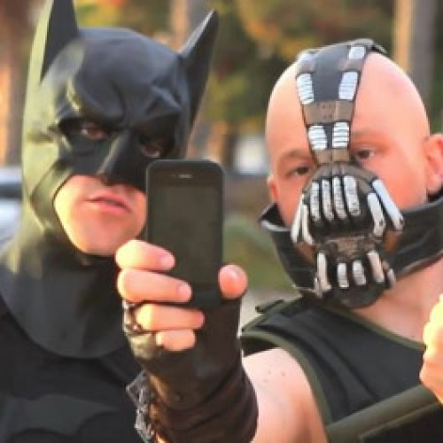 Batman and Bane become best friends and 'His Ride Isn't a Car' parodies