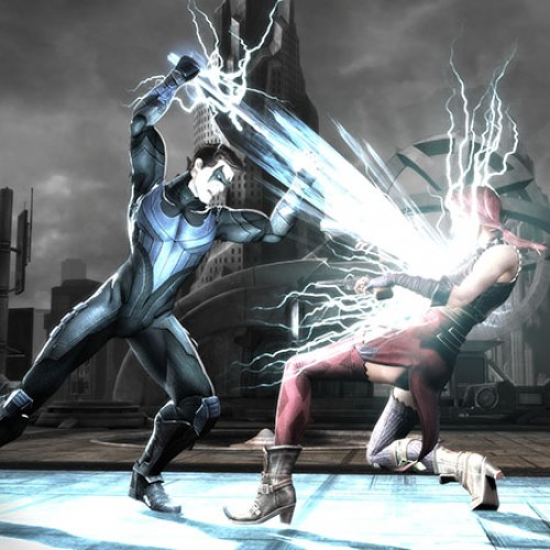 SDCC: 'Injustice: Gods Among Us' Nightwing and Cyborg screenshots