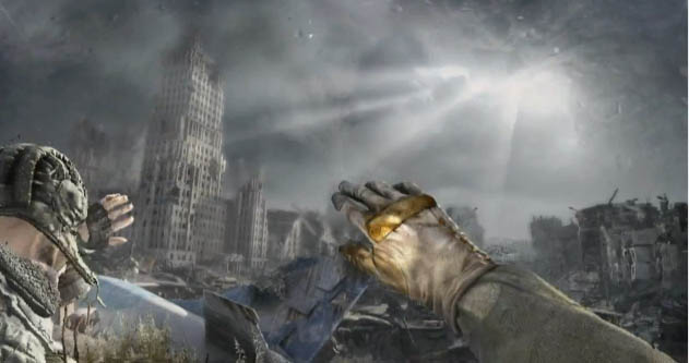 Attendees were treated with a gameplay demo of metro last light