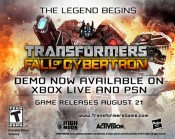 Transformers Fall of Cybertron Demo