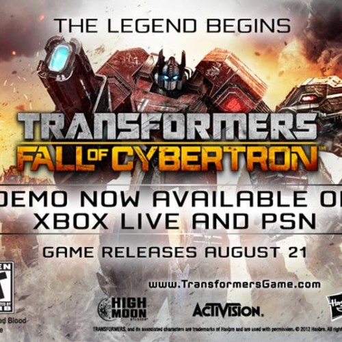 Play the Transformers: Fall of Cybertron demo now!