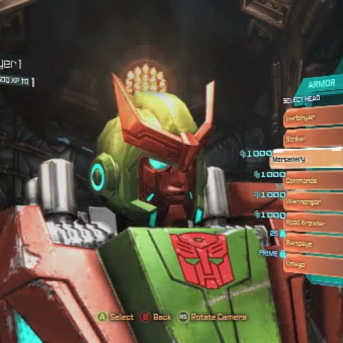 Build your own Transformers and multiplayer action in Fall of Cybertron video