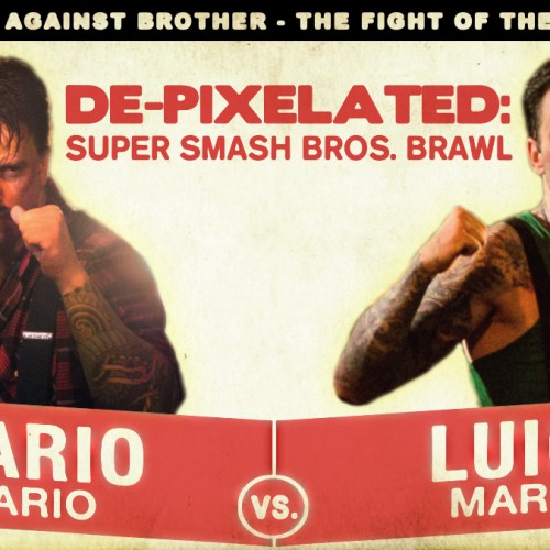 Mario and Luigi love to beat the crap out of each other