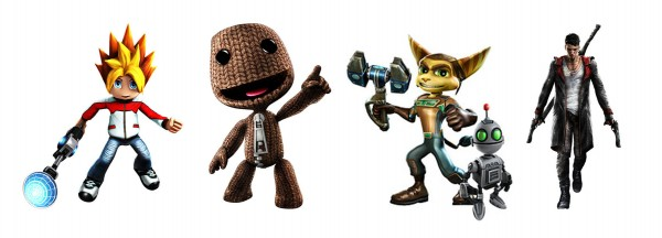 ... Dante from Devil May Cry, Sackboy from Little Big Planet, Spike from