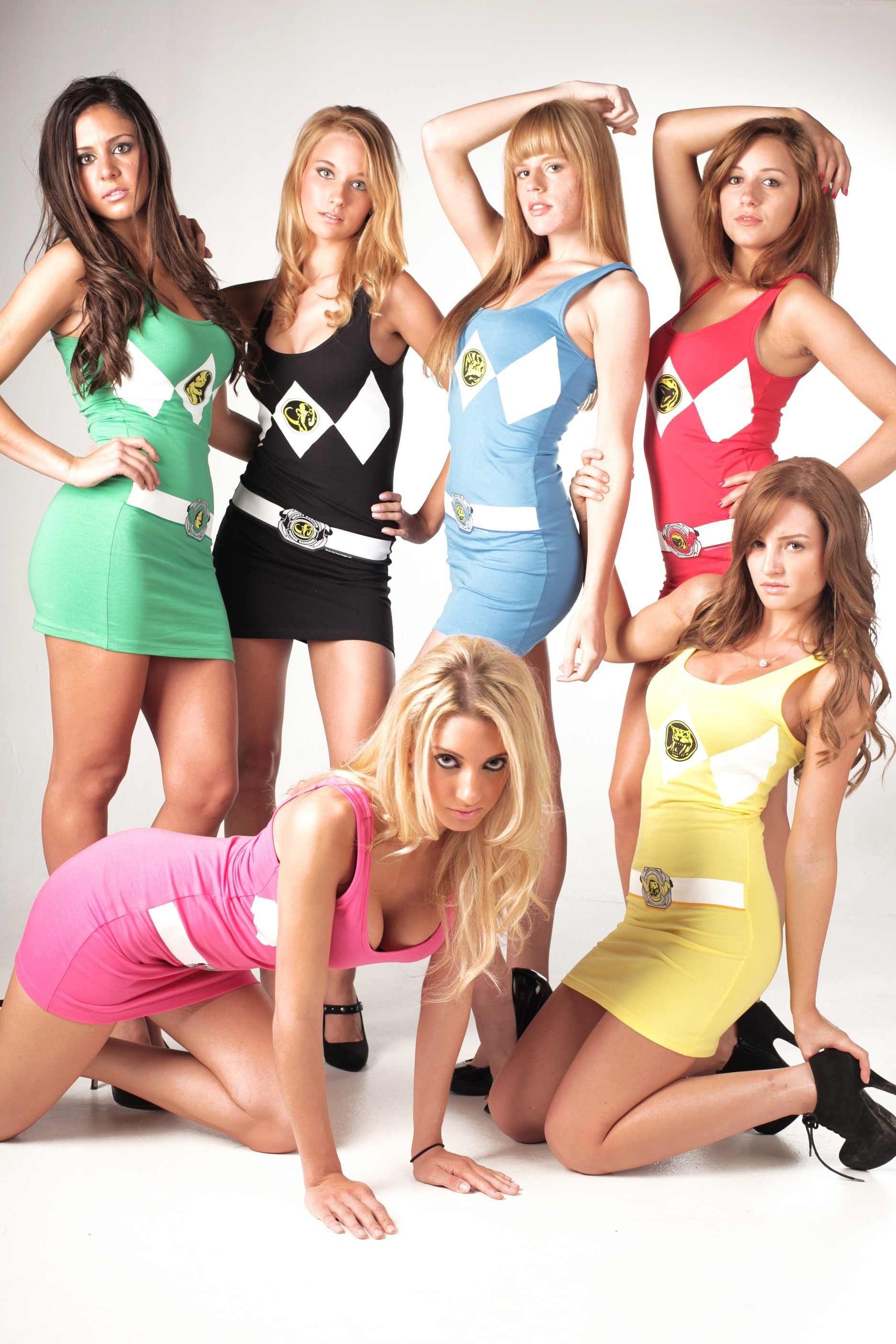 The sexy naked female power rangers think