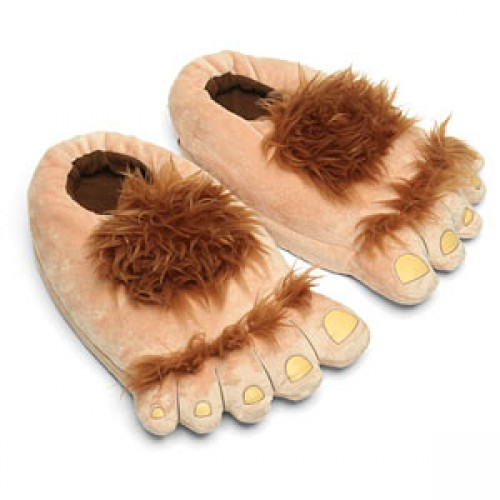 Become a hobbit with the Plush Halfling Slippers