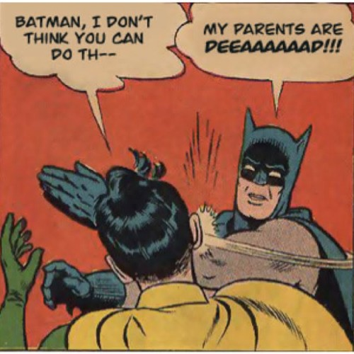 Batman rages all over Robin's nipples in The Dark Knight Rages