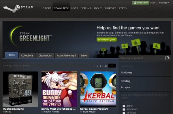 Steam Greenlight brings developers and gamers together