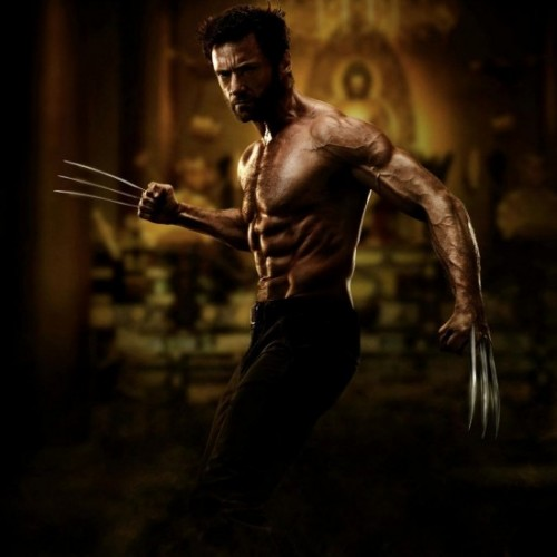 Hugh Jackman shirtless and ripped in The Wolverine official image