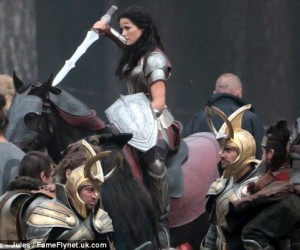 Thor The Dark World Set Photos - lady sif 2