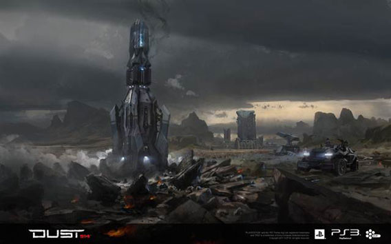 Just one of the big maps found in Dust 514