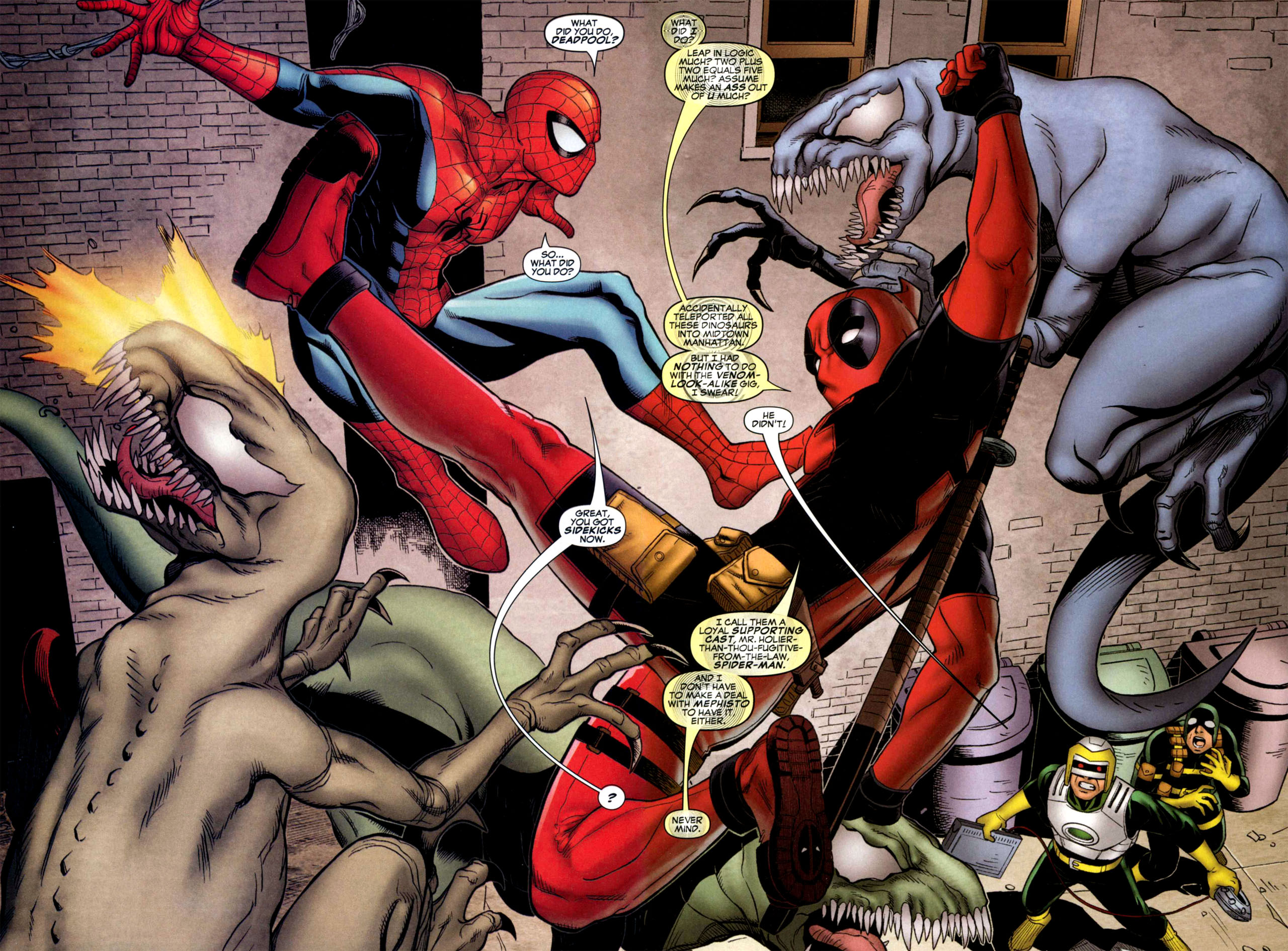 deadpool and spider man courtesy of marvel