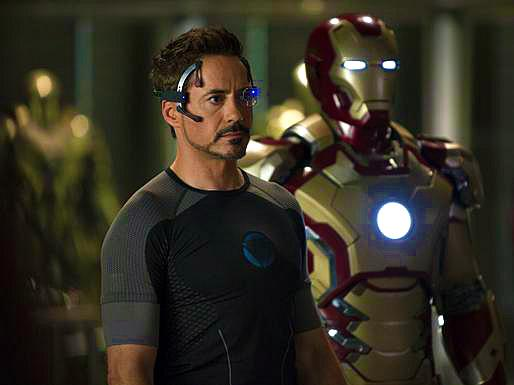 "The Iron Man 3 set in North Carolina was shut down for a few weeks in September due to Robert Downey Jr.'s sprained ankle, according to Feige, but he's been back in action for nearly a month now. ""It's an example of what Robert's always said: 'Leave nothing on the field. He always gives it 100% but I think he's given 120% on this one."" That's important particularly in Iron Man 3's very Tony Stark-centric story line. ""Robert is in almost every scene, which, when you have Robert, is not a bad thing,"" the producer says. ""The goal with Iron Man 3 is to again prove that all of our single heroes are as interesting alone as they are when they're all together in an Avengers movie."""
