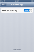 Limit Ad Tracking