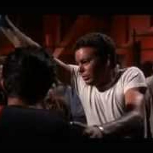 The epic knife fight from West Side Story…now with light sabers
