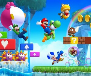 new super mario bros u art