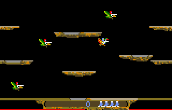 screenshot of joust video game