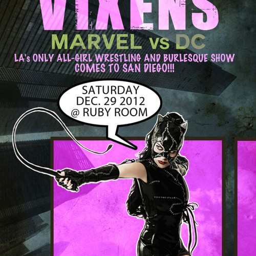 Marvel vs. DC Burlesque Show this weekend in San Diego