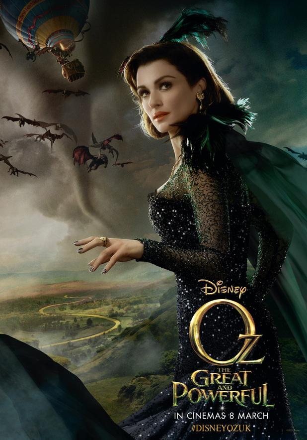 rachel weisz as evanora in new poster for oz the great