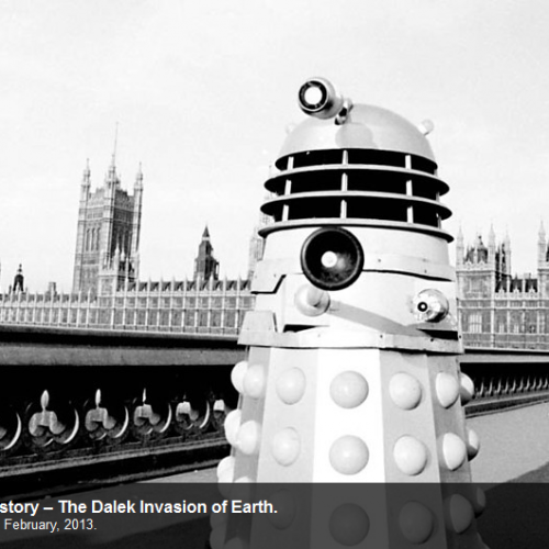 Doctor Who's recreation of Dalek invasion of Earth for docudrama!
