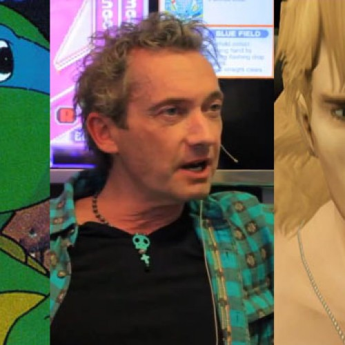 Cam Clarke (Leonardo and Liquid Snake) does voices and plays with toys