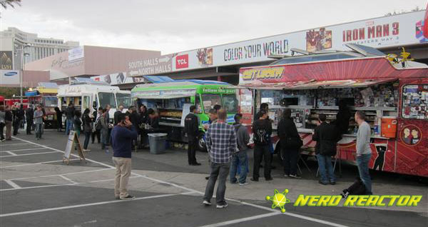 One reason to venture out to Central Plaza, the food trucks.