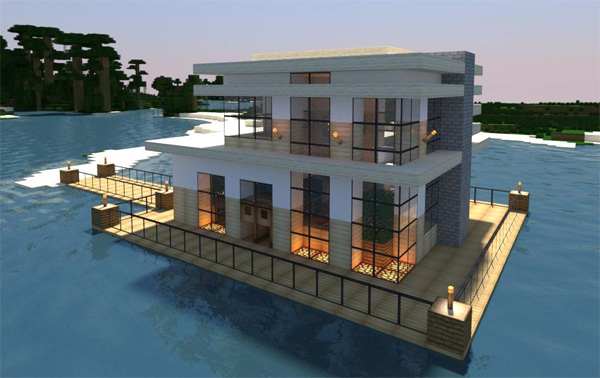 20 modern minecraft houses nerd reactor for Minecraft modern home designs