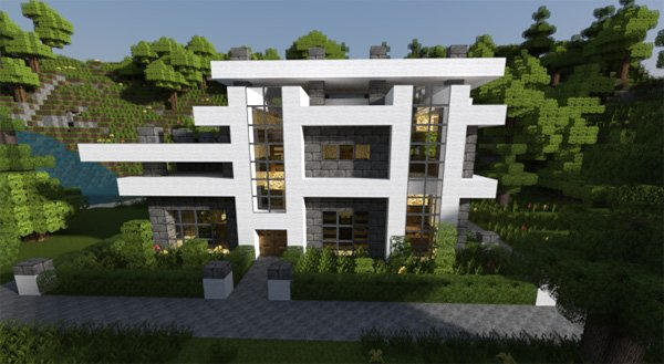 20 modern minecraft houses nerd reactor for Modern house xbox minecraft