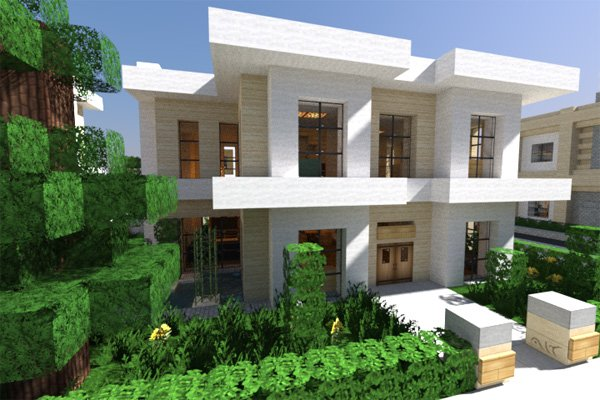 20 modern minecraft houses nerd reactor for Modern house mc
