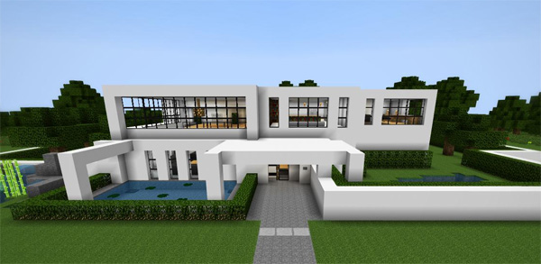20 modern minecraft houses nerd reactor for Huge modern mansion