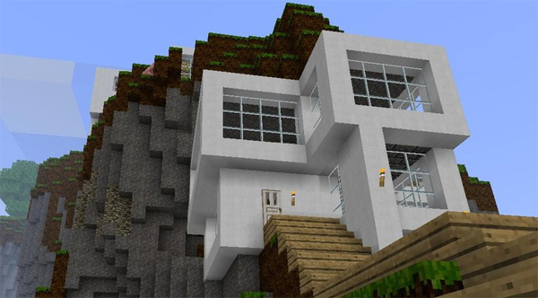 Modern Minecraft Houses Nerd Reactor - Cool minecraft house idea