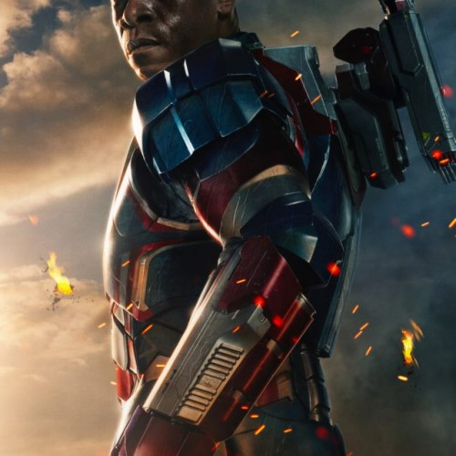 Don Cheadle suits up a Iron Patriot in Iron Man 3 poster