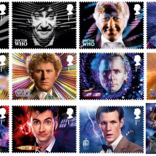 Doctor Who 50th anniversary stamps released!