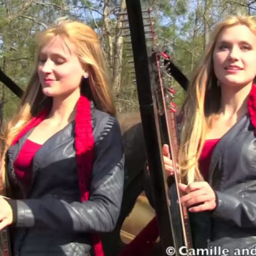 The Harp Twins perform Doctor Who theme song