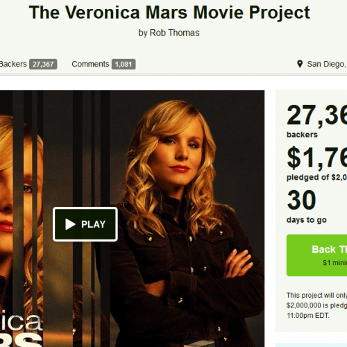 Expect a Veronica Mars movie next year!