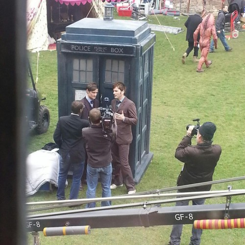 Doctor Who 50th: FINALLY! Tennant and Smith together on the set!