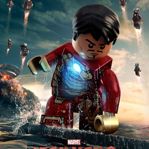 LEGO versions of Iron Man 3 posters