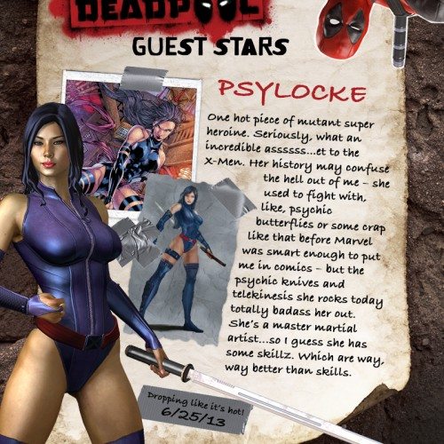 Psylocke and Mister Sinister join Deadpool game