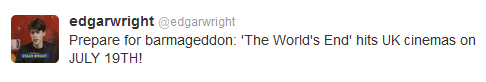 The Worlds End Edgar Wright