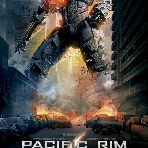 Pacific Rim poster shows off a giant mech in the city