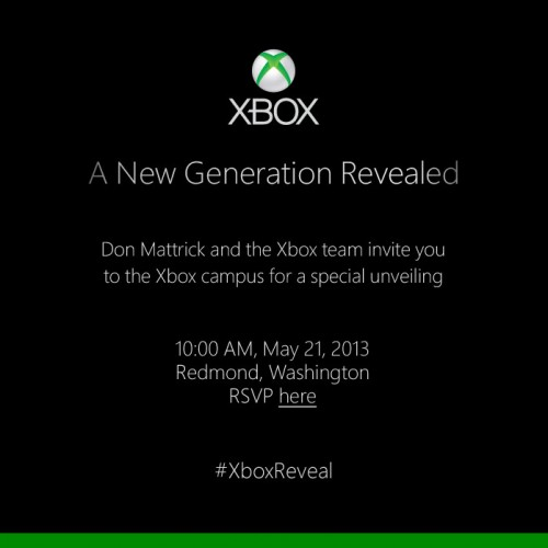 The next-gen Xbox will be announced on May 21