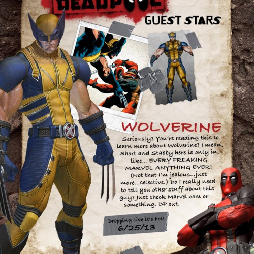 Wolverine will appear in the Deadpool video game