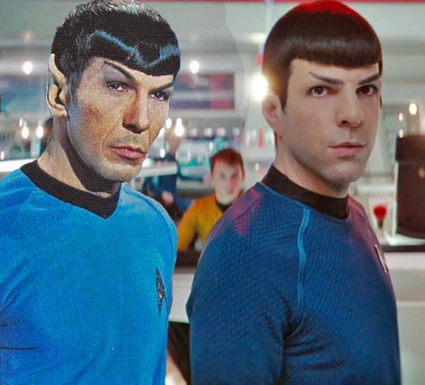 OldSpockNewSpock Star Trek Into Darkness