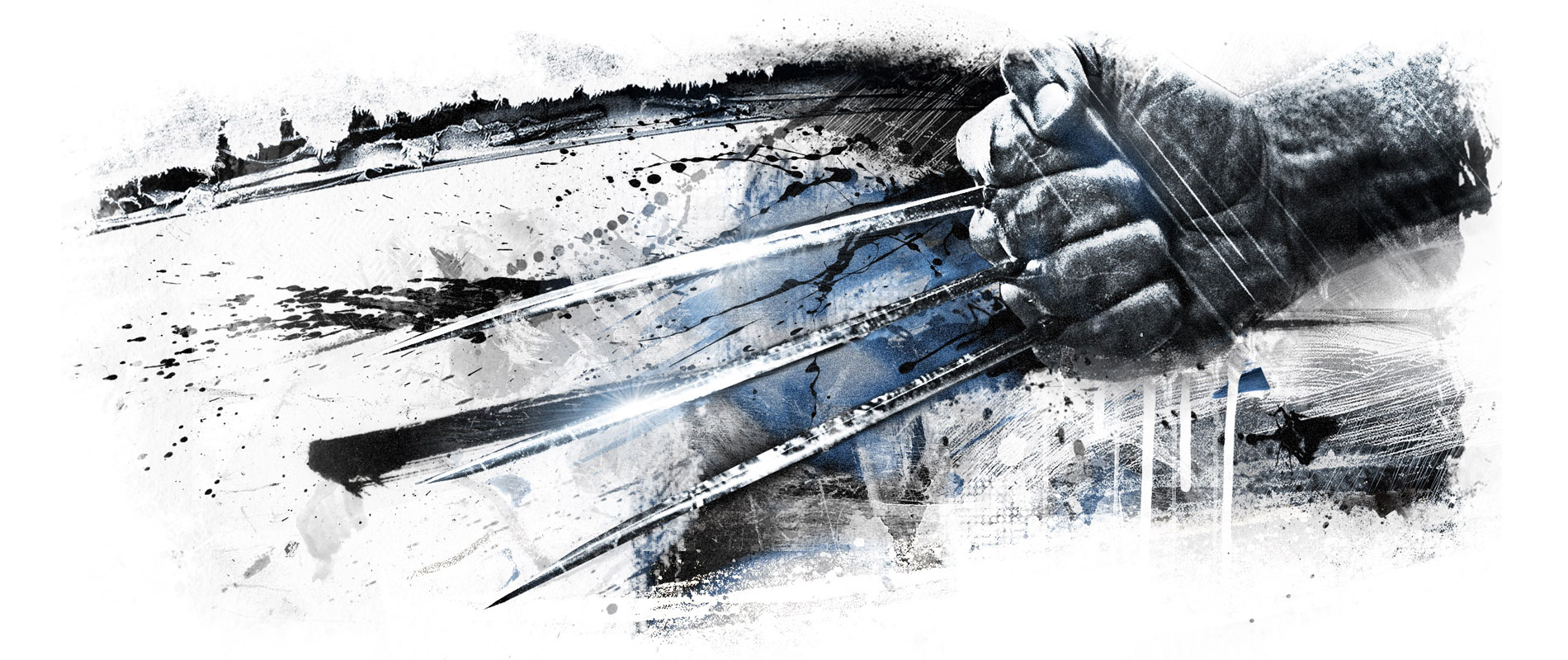 The wolverine gets a new trailer and some ink wash artworks
