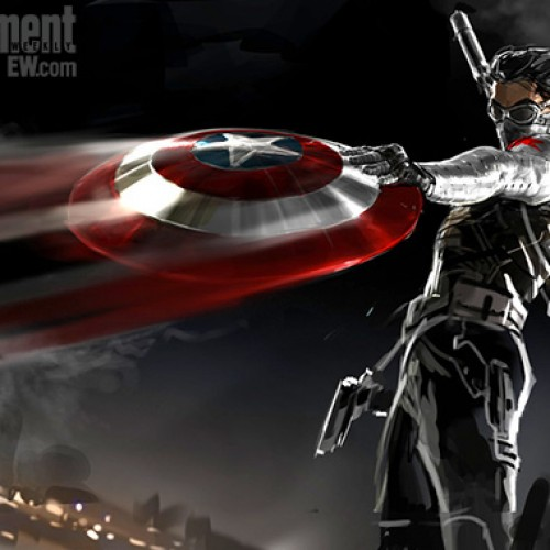 The Winter Soldier plays catch with Captain America's shield in concept art