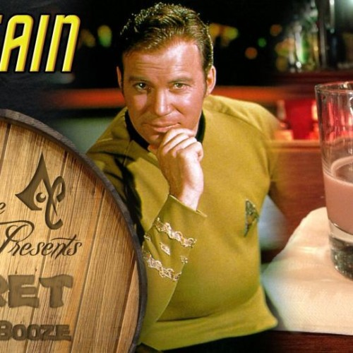 Captain Kirk gets his own drink for Secret of the Booze